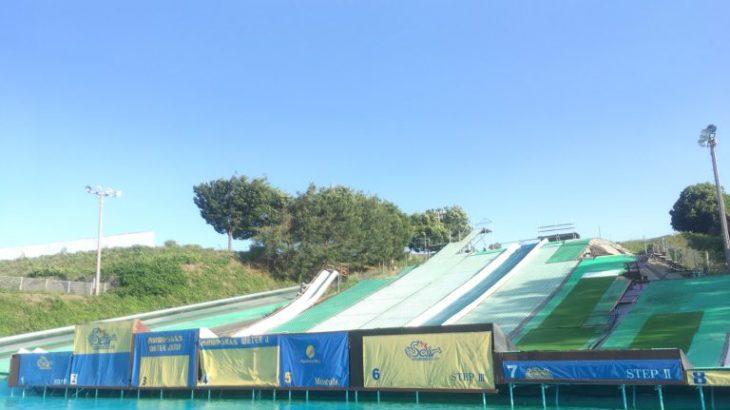 水に飛び込む爽快感!スノーボードのオフトレに(ウォータージャンプ)!
